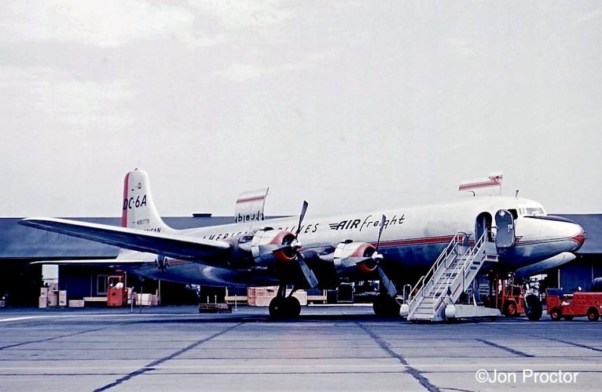 11 DC-6A N90779 LAX Bob Proctor
