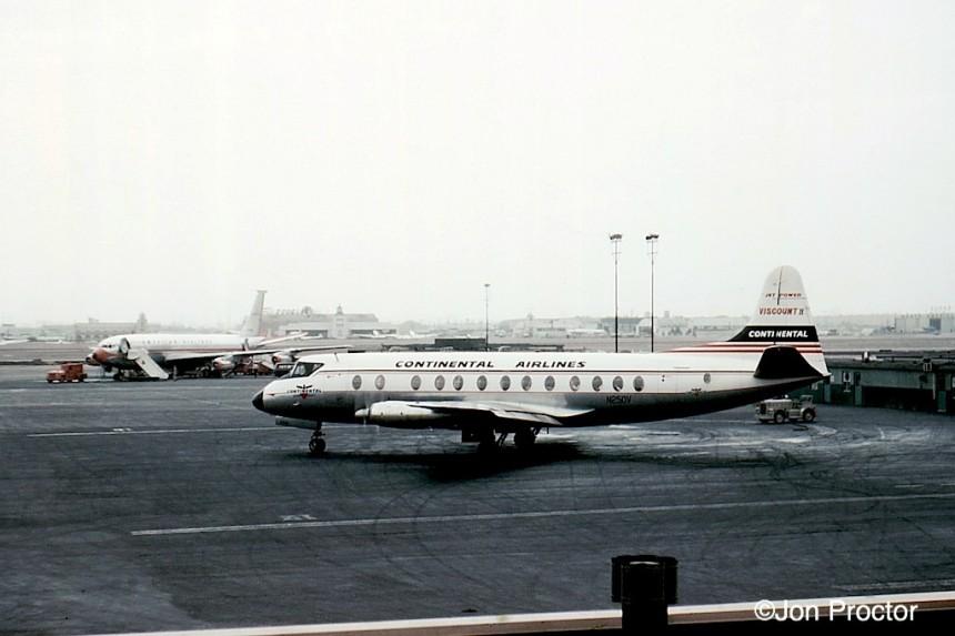 14 Viscount 812 N250V LAX 1959 Bob Proctor