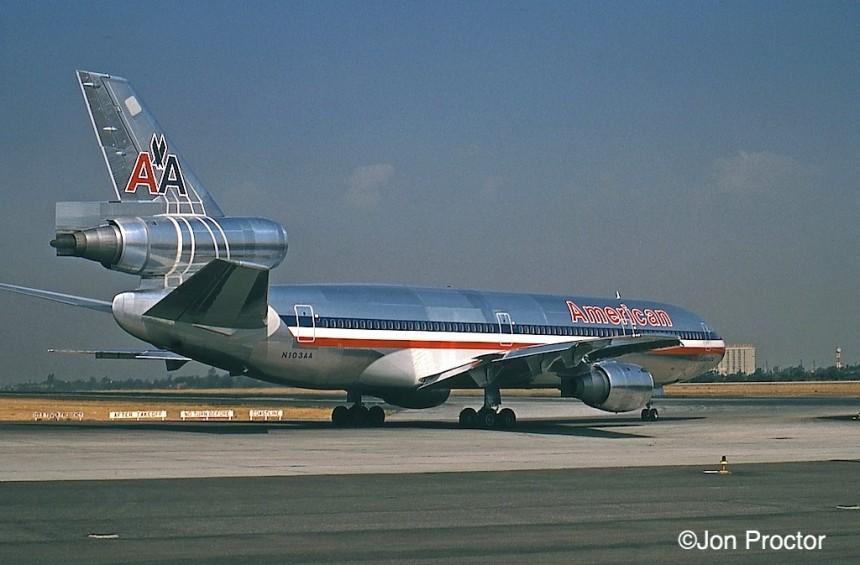 154 DC-10-10 N103AA LAX 1971-08-17 inaug Bob Proctor