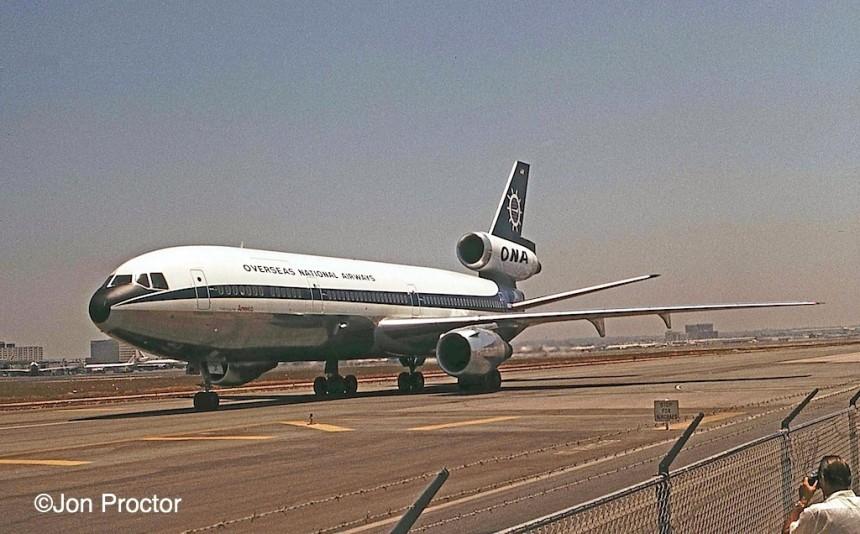 160 DC-10-30CF N1031F LAX 7:4:73 WO Bob Proctor