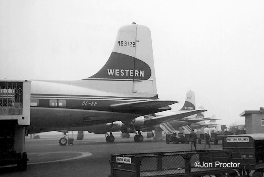 19 DC-6B lineup LAX 03-09-1960-sized