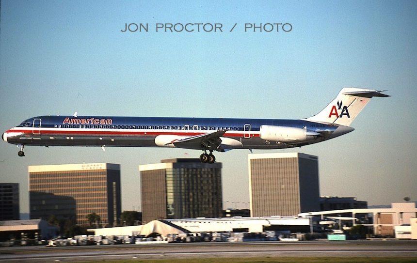 3 DC-9-82 N418AA LAX 12:27:97-H