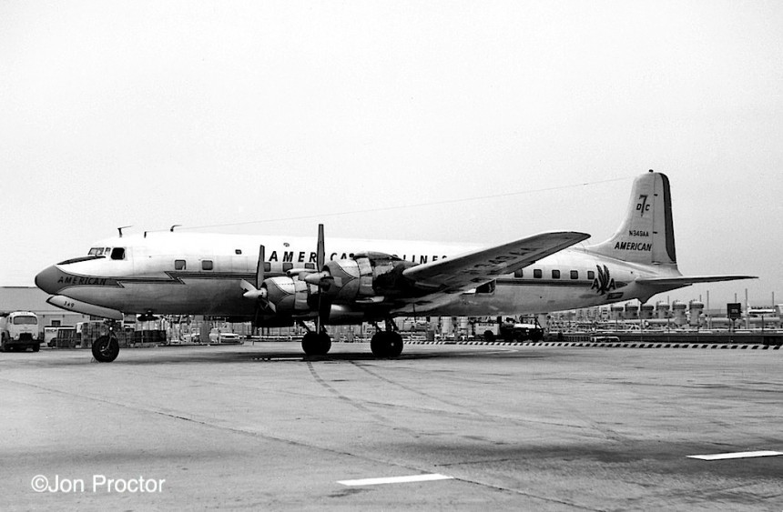 57 DC-7B N349AA LAX 1963 Bob Proctor-7385913