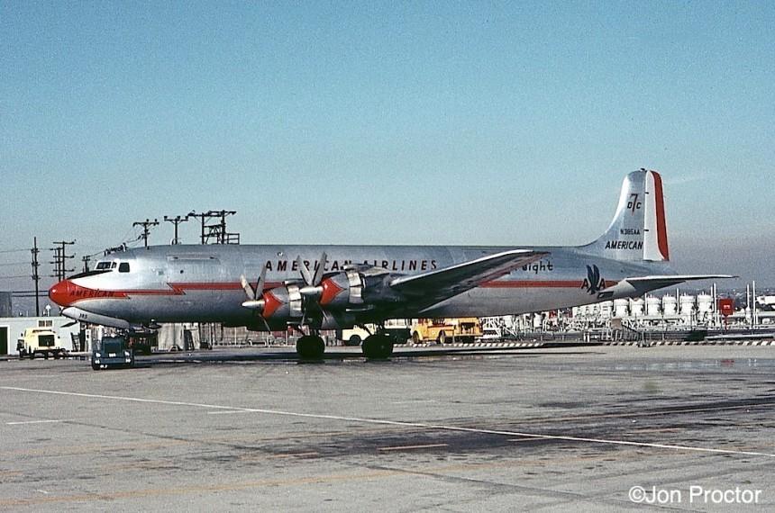 85 DC-7BF N385AA LAX Bob Proctor