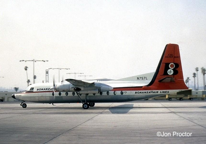 90 F-27A N757L LAX 8:15:64