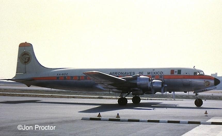 93 DC-6 XA-NOZ LAX