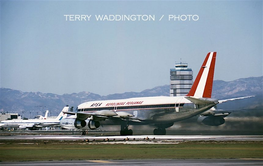 CV-990A OB-R-728 LAX Terry Waddington-1966