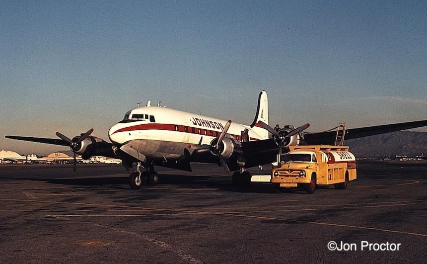 DC-4 N88890 Johnson BUR 1:69 Blob Proctor