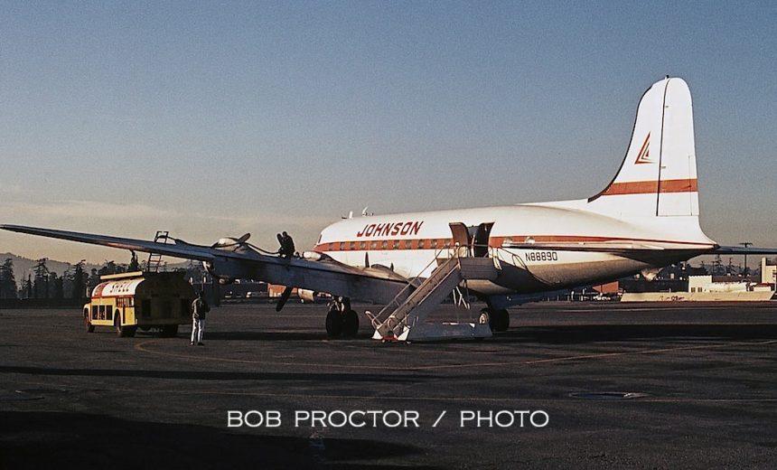 DC-4 N88890 Johnson FS LGB 1:6:69 Bob Proctor 2