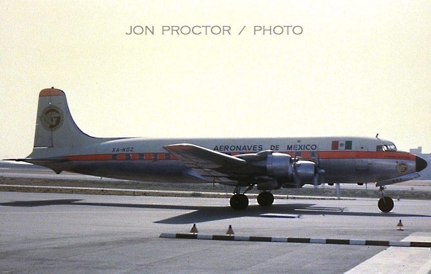DC-6 XA-NOZ LAX 6:64 N90708