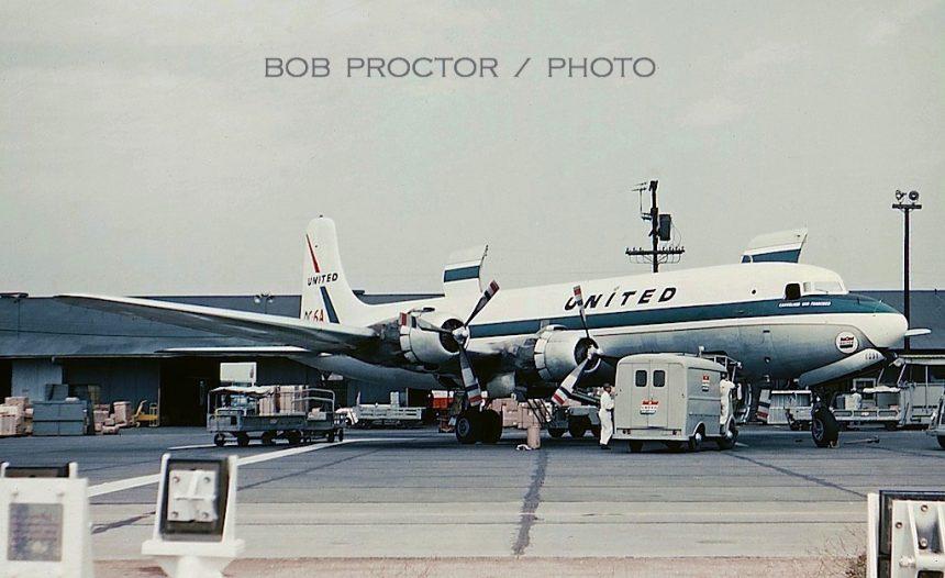 DC-6A N37591 LAX 1959