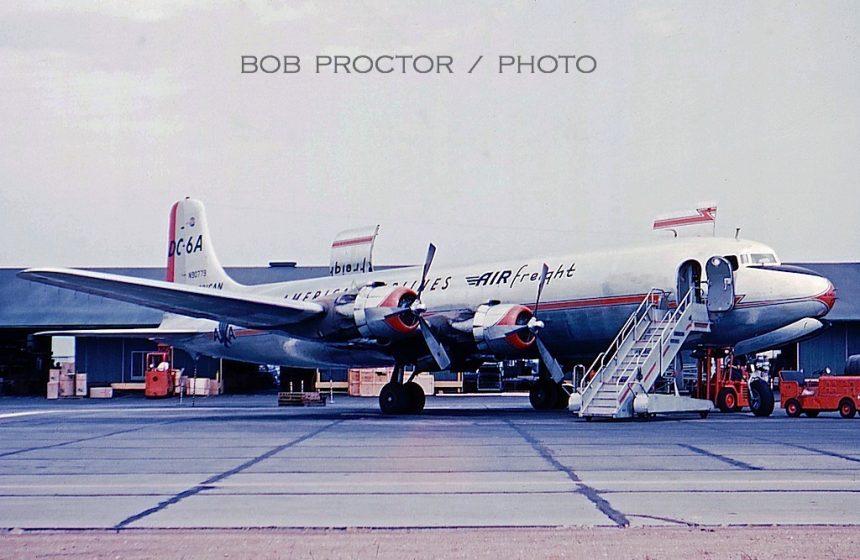 DC-6A N90779 LAX 1959 Bob Proctor-6982152