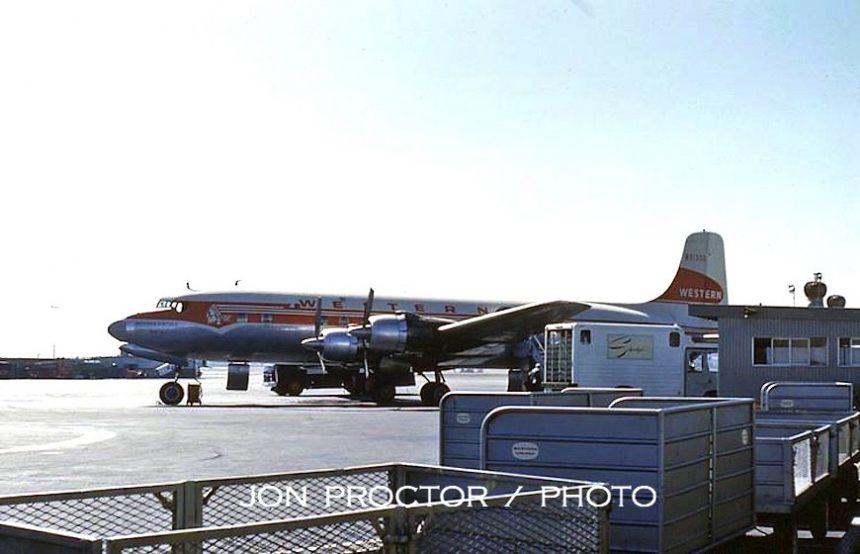 DC-6B N93106 LAX 9:5:60