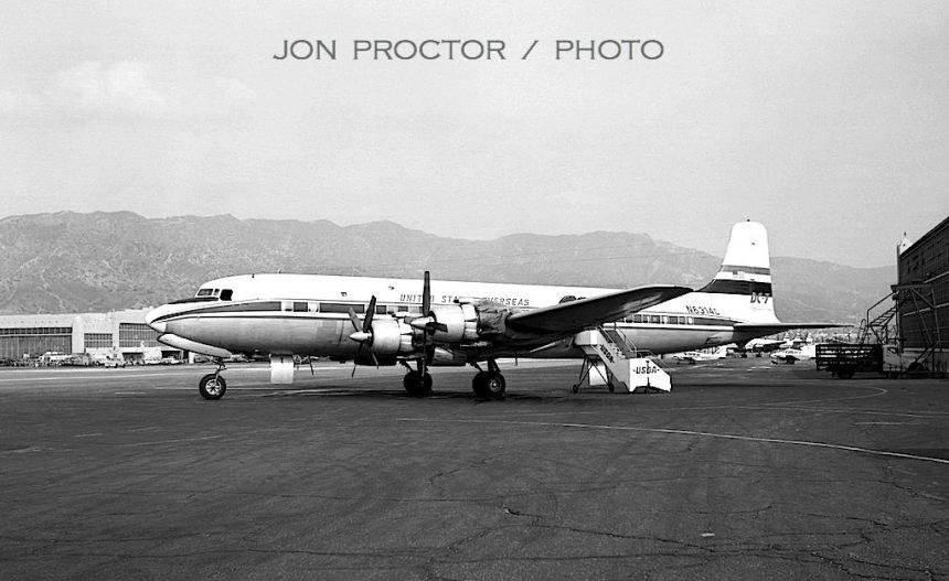 DC-7 N6314C BUR 3:1:64-7357285
