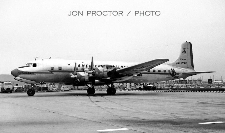 DC-7B N349AA LAX 1963