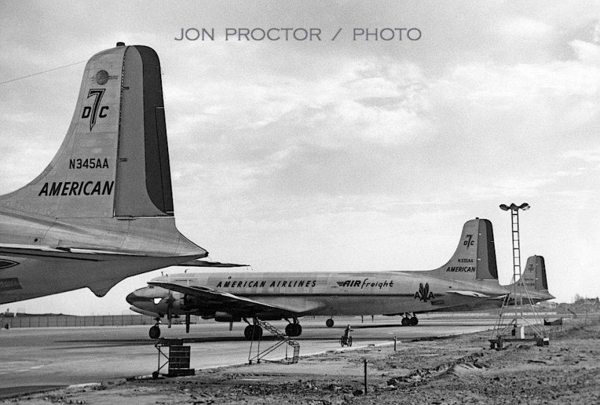 DC-7BF N345:335:387AA LAX 12:28:59