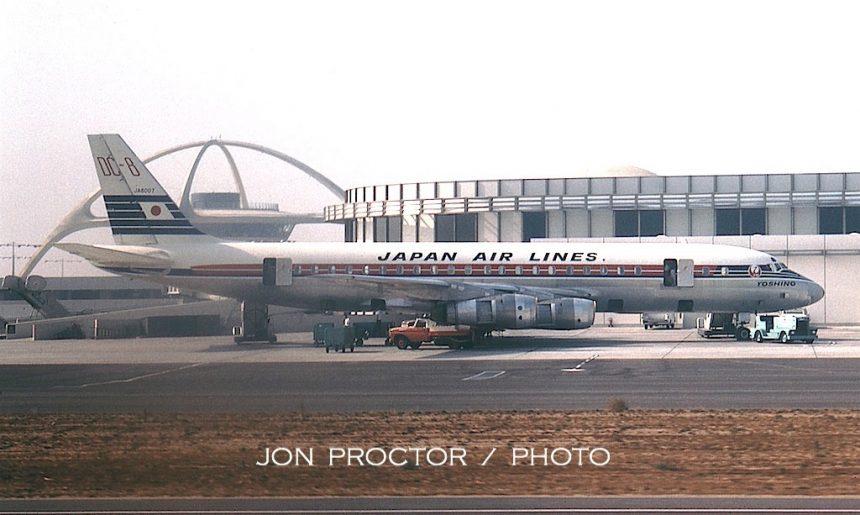 DC-8-53 JA8007 JAL LAX 7:24:63