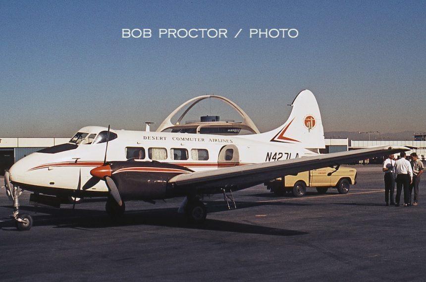 DH104 Dove N427LA LAX 12:6:69-1 Bob Proctor-6982153