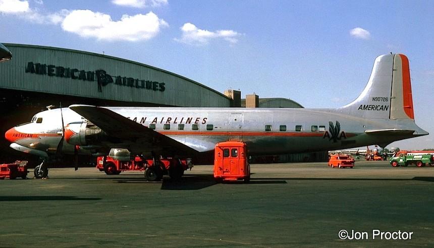 2 DC-6 N90726 LGA 7:27:62-cr