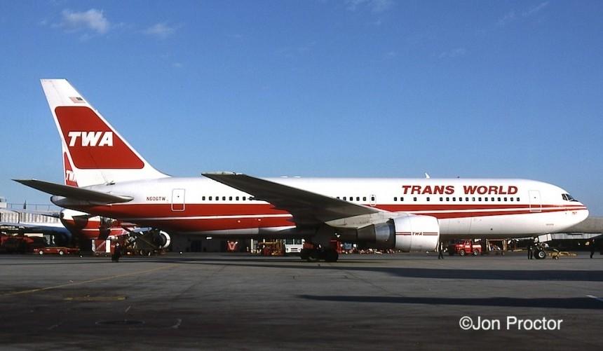 767-231 N606TW JFK 3:23:87