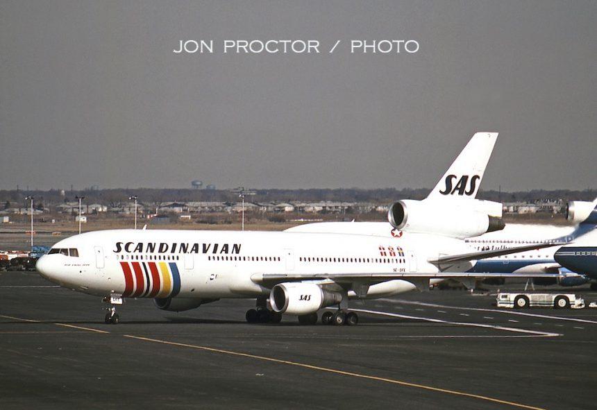 DC-10-30 SE-DFE JFK 3:1:86-7179641