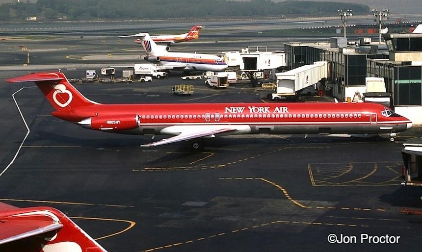 DC-9-82 N805NY LGA 10:17:84