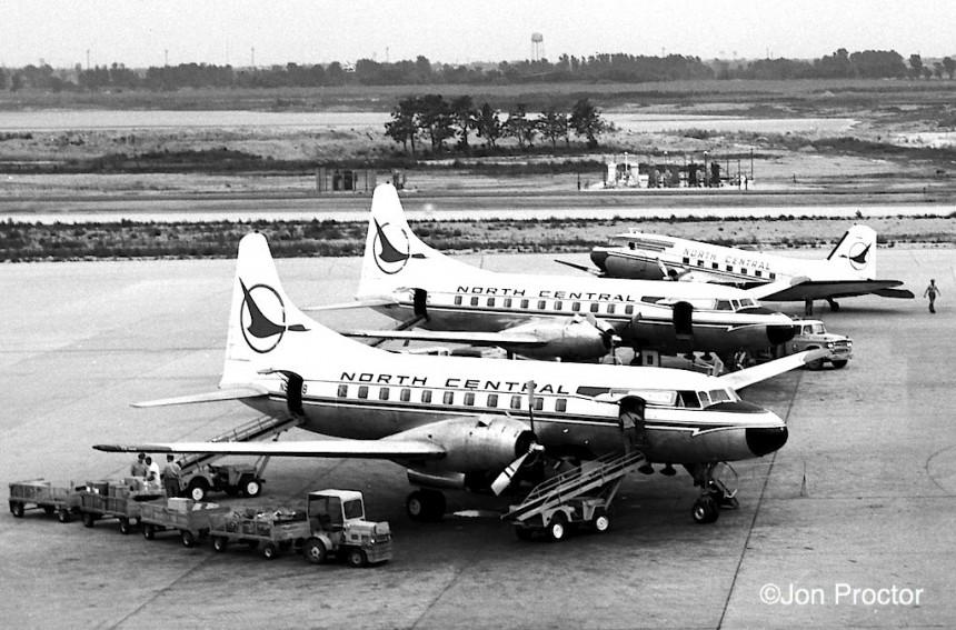 74 CV-340s DC-3 ORD 6:30:62