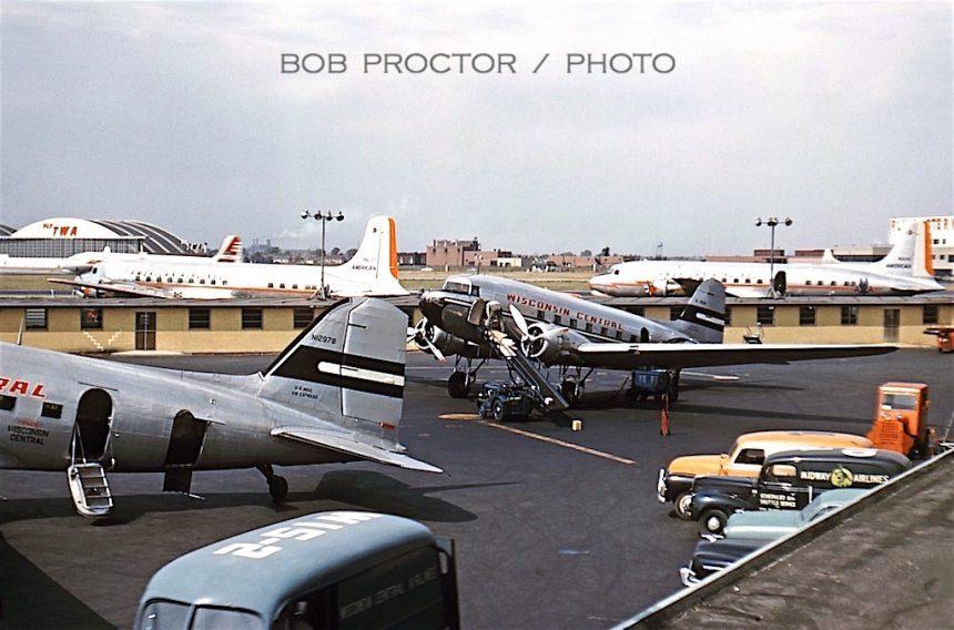 DC-3 N26214 MDW 1952 Bob Proctor-6994441