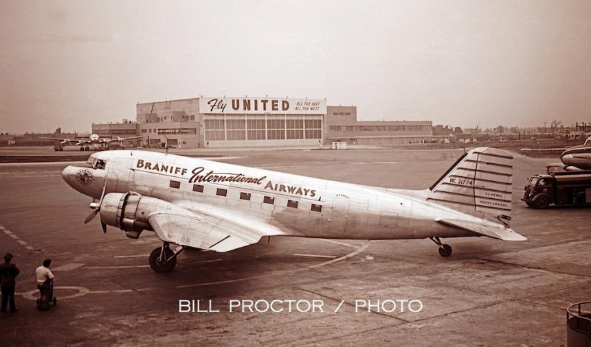DC-3 NC21774 MDW 1949 Bill Proctor