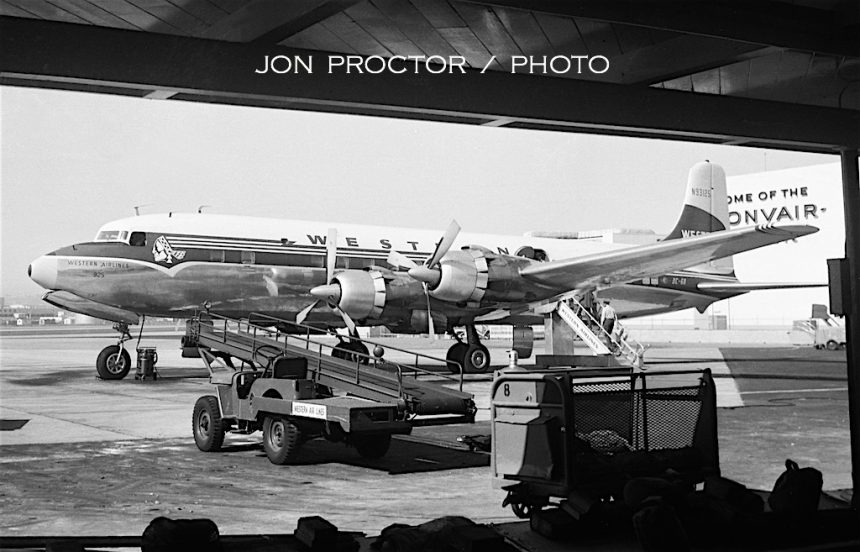 DC-6B N93125 SAN 10:5:58-7319114