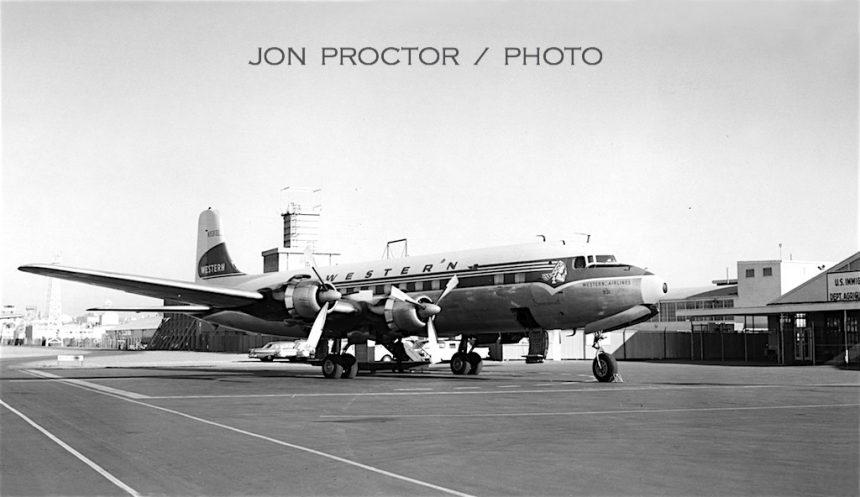 DC-6B N93131 SAN 4:63-Before
