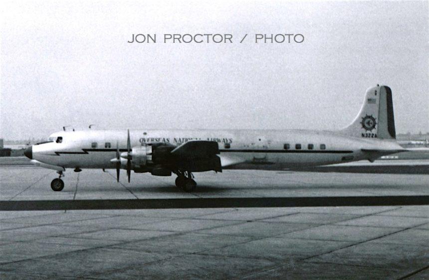 DC-7 N322A SAN 8:13:61-7357490