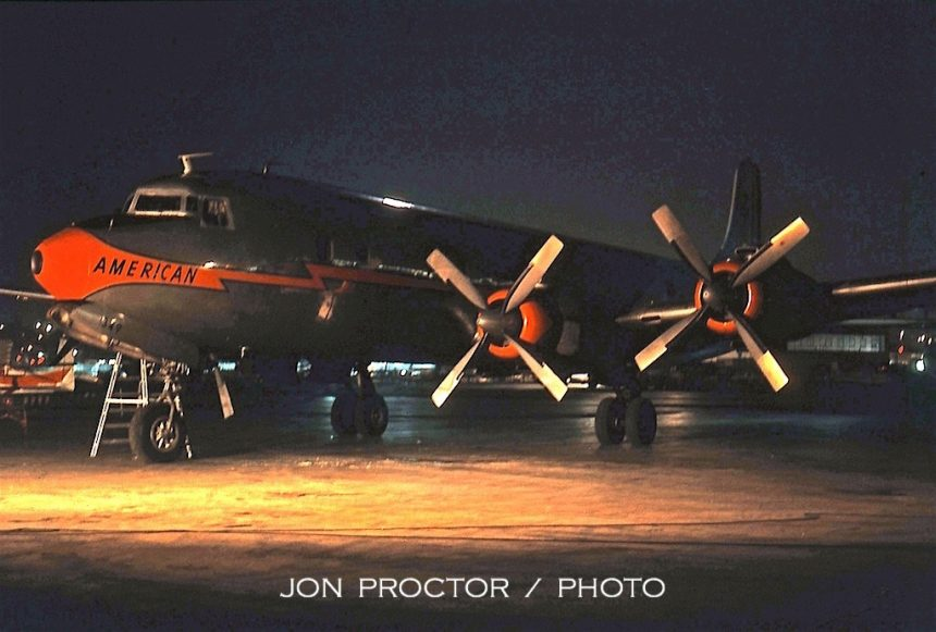 DC-7B N349AA nite SAN 10:16:62-7011197