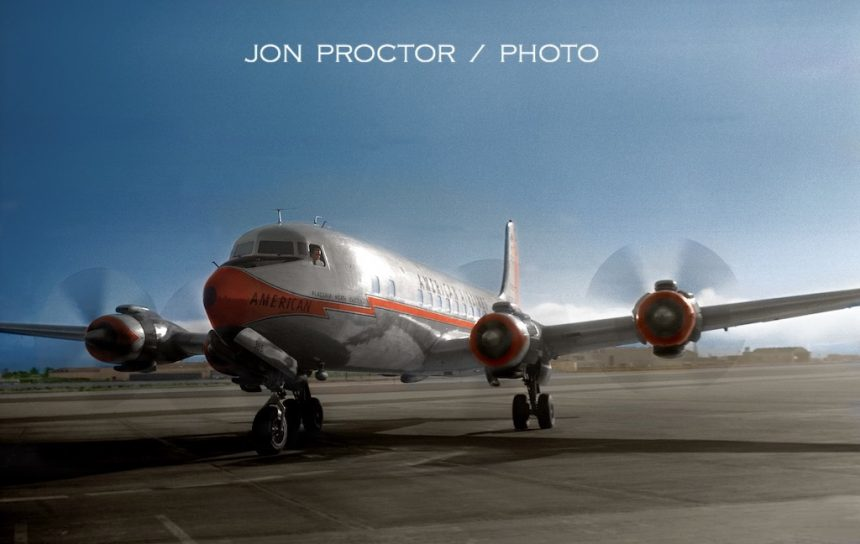 DC-7B N365AA SAN 8:24:59 - color