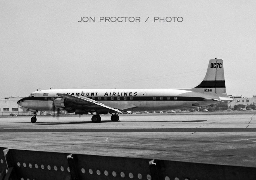 DC-7C N2281 SAN 7:8:62-7356673