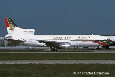 The pictured N81027 and N41020 completed 30-month leases to Gulf Air in 1981.