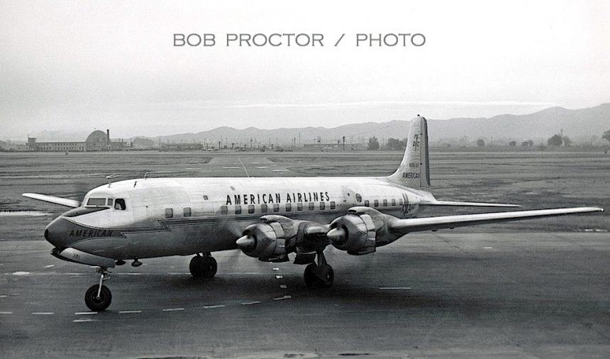 DC-7B N381AA PHX 1960 Bob Proctor-7402480