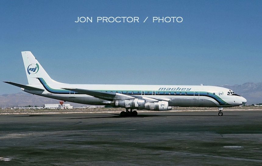 DC-8-51 N821E LAS 6:80