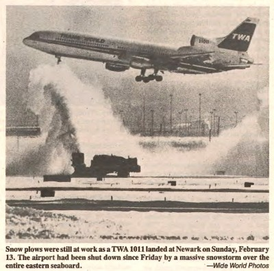 A picture from the TWA Skyliner reflects conditions at the New York Airports by the time I returned.