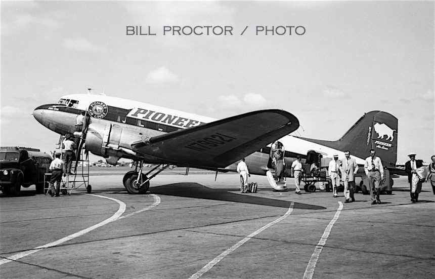 DC-3 N79021-2 TUL 08-1950 Bill Proctor-The James Bowie