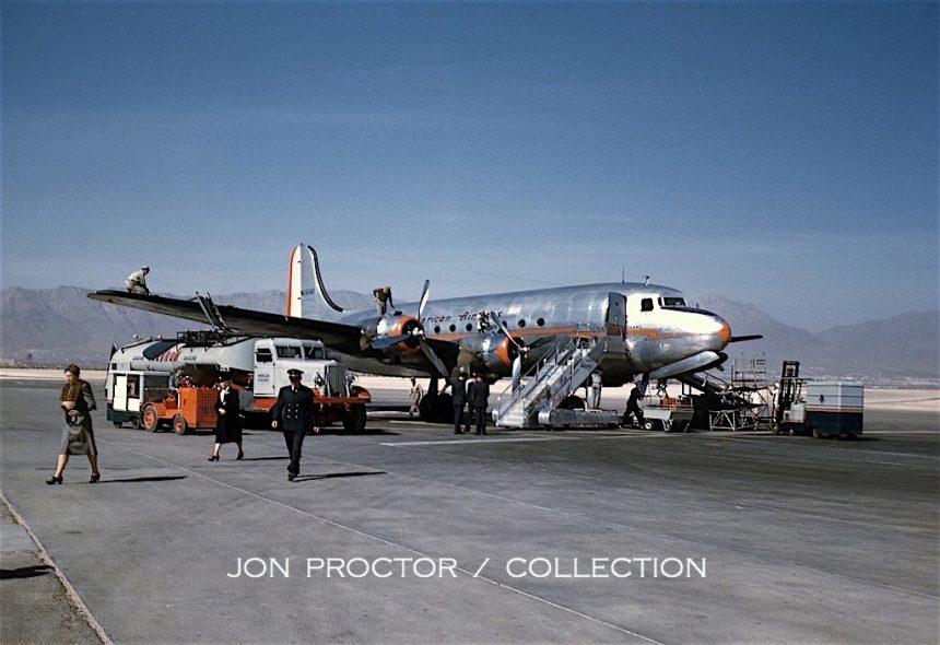 DC-4 NC90413 ELP 1947 JP Col